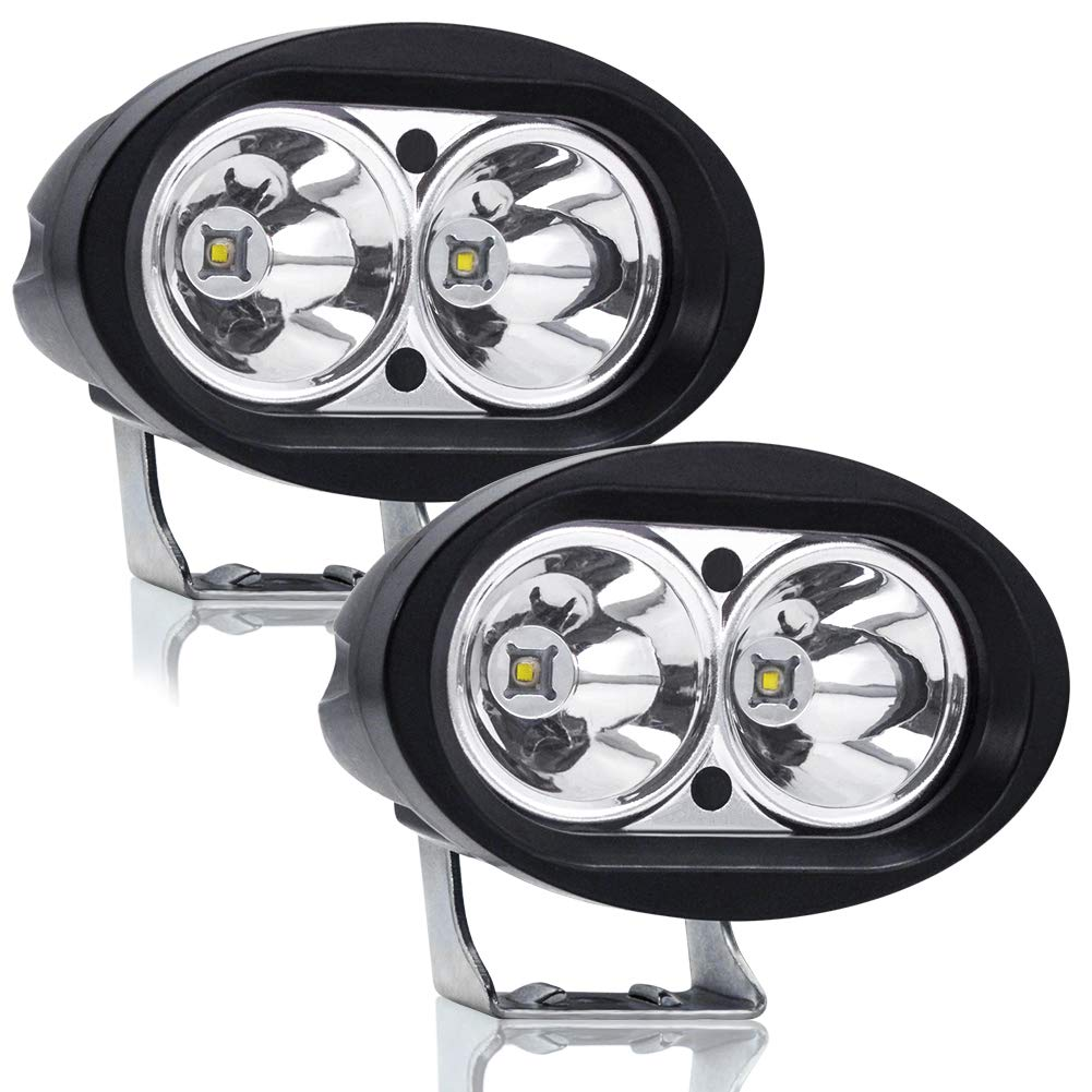 Ourbest Spot Beam Cree 4 20W Fog Auxiliary Lights Work Pods For Trucks Cars Jeep Off Road Tractor 4x4 Forklift ATV SUV Boat Led Motorcycle Driving Lights 2Pcs