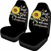 Dolyues Autostoelhoezen Voorstoelen Alleen voor Vrouwen Volwassen Meisjes Houdt Van Vlinder Zonnebloem Print Volledige…
