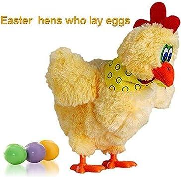 Juguete Electrico Poniendo los Huevos los niños, el Baile Musical eléctrico gallinas de Pollo Fiesta de Pascua: Amazon.es: Juguetes y juegos