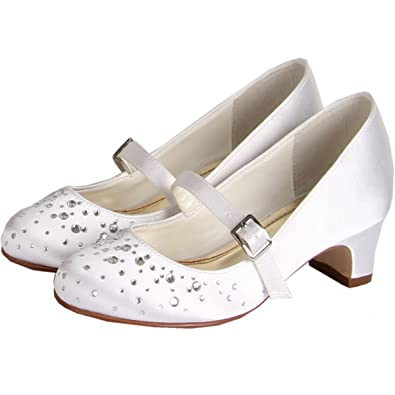 237101f22 Else by Rainbow Club Kids Bridesmaid or Communion Shoes Girls - Cherry -  White Satin: Amazon.co.uk: Shoes & Bags