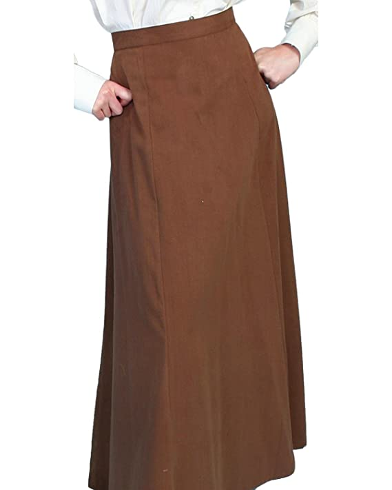 1890s-1900s Fashion, Clothing, Costumes Scully Rangewear Womens Rangewear Brushed Twill Skirt - Rw530tan $76.75 AT vintagedancer.com