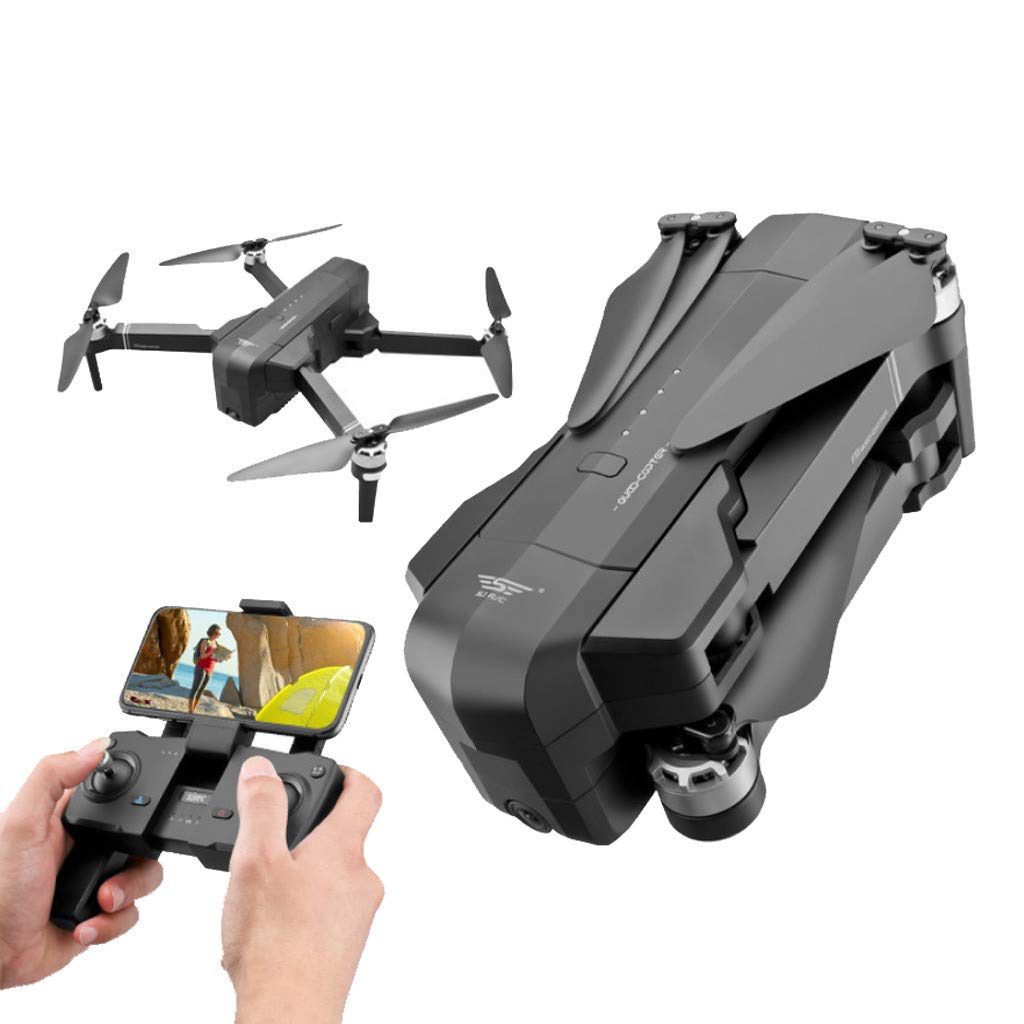 MOZATE New SJRC F11 GPS 5G WiFi FPV 1080P HD Cam Foldable Brushless RC Drone Quadcopter (Black) by MOZATE (Image #2)