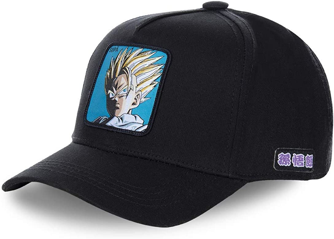 Collabs Gorra Dragon Ball Z Gohan Negro OSFA (Talla única para ...