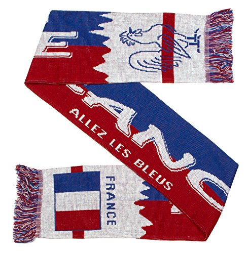 Football Scarf - France Champions Du Monde Soccer Knit Scarf (Classic)