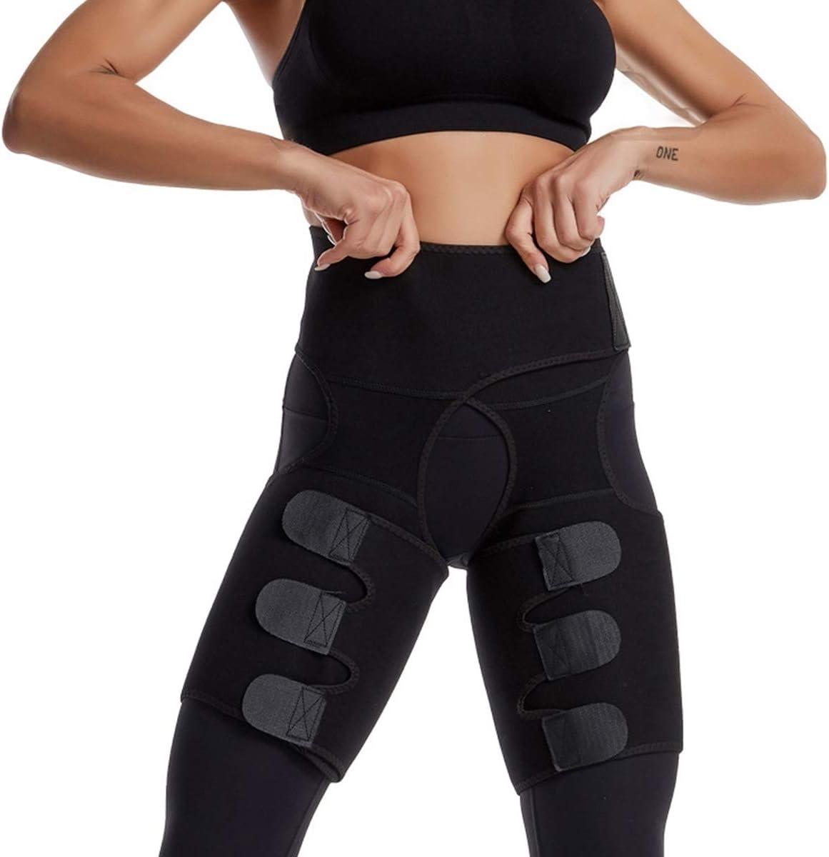 Details about  /Women Thigh Trimmer Body Shaper Butt Lifter Belt Sweat Waist Trainer Shapewear