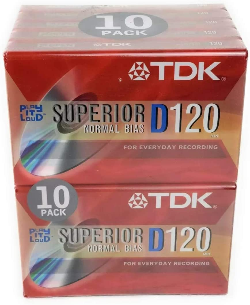 TDK D120 Dynamic Audio Cassette Tapes 10 Pack