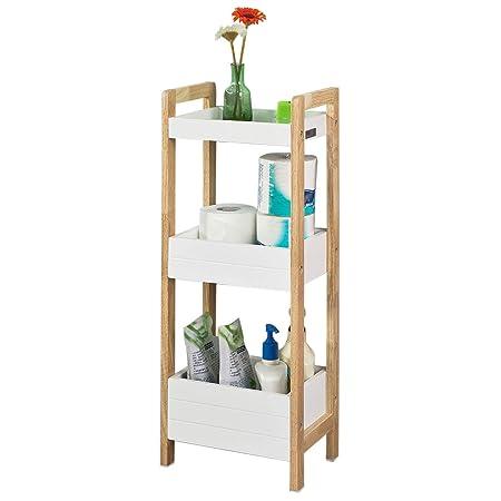 SoBuy® FRG226-WN, 3 Tiers Bathroom Shelf Storage Display Shelf Rack ...