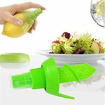 yhxk cítricos amarillo limón pulverizador, Manual exprimidor ZUMO DE FRUTA Schorle Spray Gadget: Amazon.es: Hogar