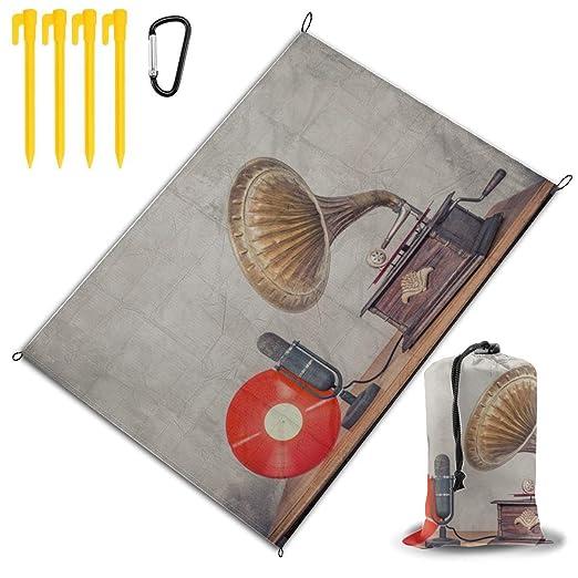 Tocadiscos de gramófono anticuados Manta de playa para niños ...
