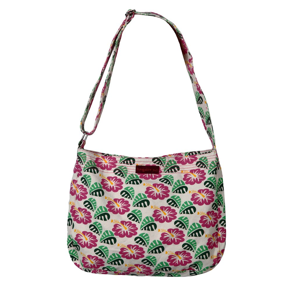 Image of Bungalow 360 Large Messenger Bag (Hibiscus) Luggage