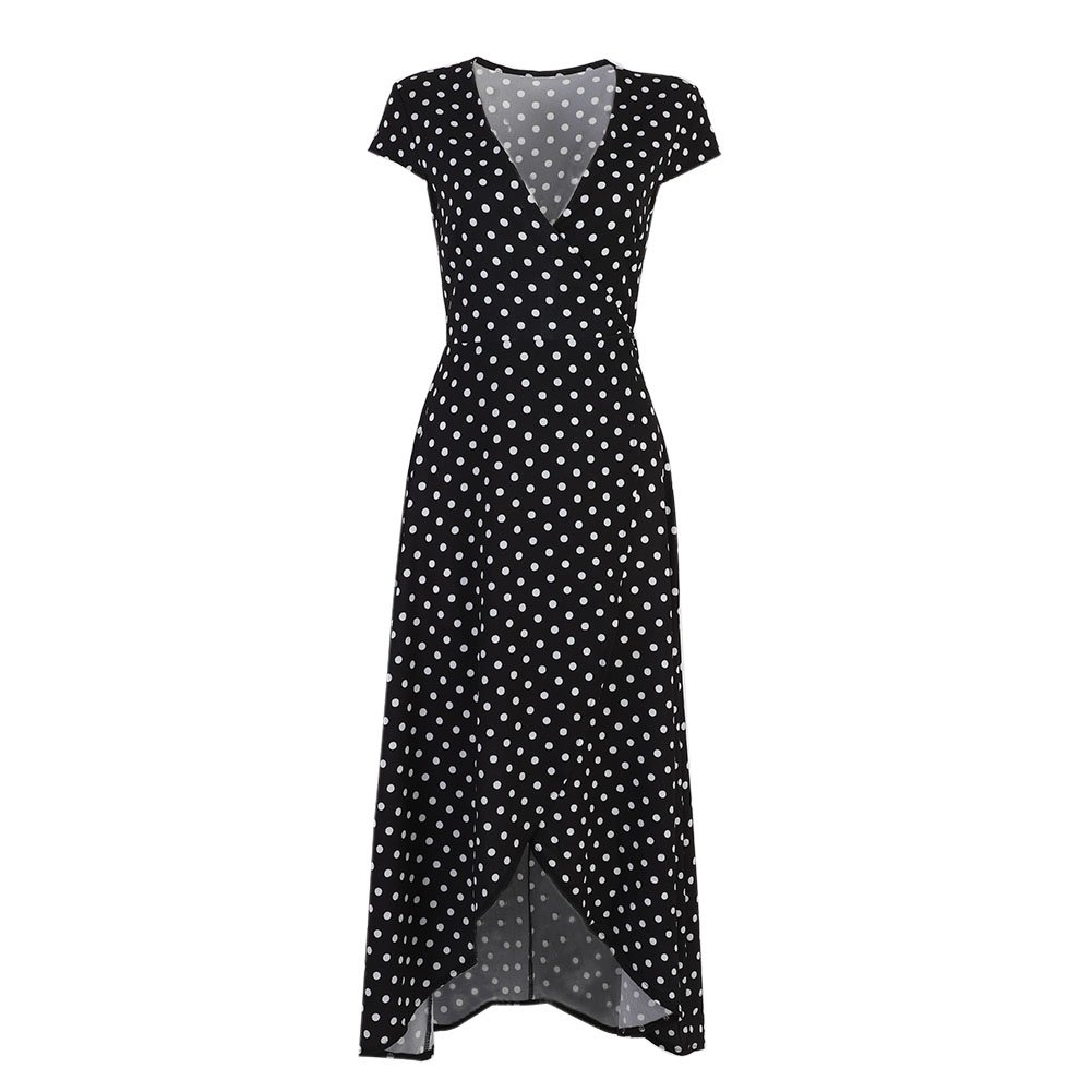 84d363e549a Etosell Women's Vintage Polka Dot Dress 1950 Retro Boho Long Maxi Dresses