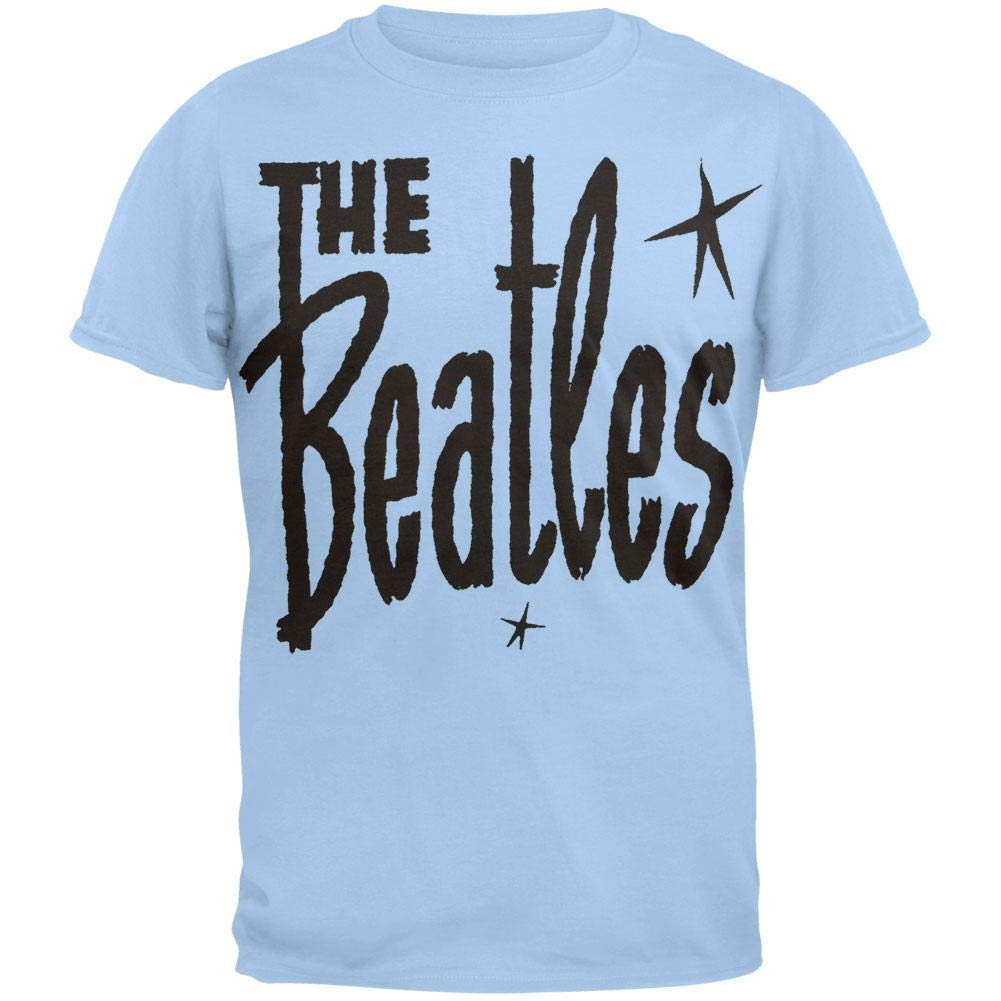 The Beatles Retro Star Logo Blue Shirts