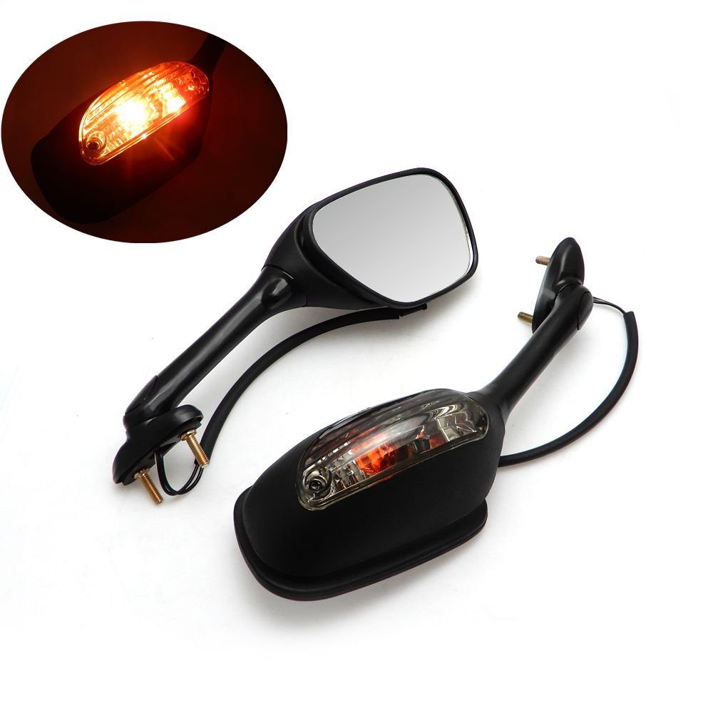 2006-2015 gsxr 600/750 Mirrors Motorcycle Integrated Turn Signal Mirror for Suzuki gsxr 600/750 06-15, 2005-2008 Suzuki GSXR1000 K5 K6 K7 K8 K9, 2003-2008 Suzuki SV650 SV650S, 03-07 SV1000 SV1000S