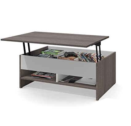 Lift Top Coffee Table.Amazon Com Bestar 37 Lift Top Coffee Table Small Space Kitchen