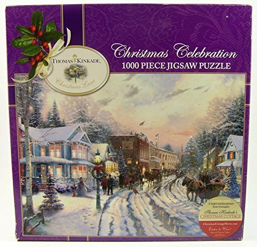 Thomas Kinkade Christmas Celebration 1000 Piece Jigsaw Puzzle MADE IN USA