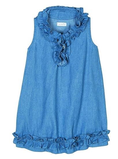 8a0e6174ec3 Amazon.com  Mud Pie Lttle Girls Mini Sailor Chambray Dress  Clothing