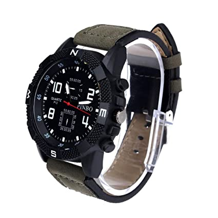 Xinantime Relojes Hombre,Xinan Correa de Lona Grande Dial Deporte Militar Cuarzo Reloj de Pulsera
