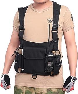 Etophigh Radio Brustgurt Brustgurt Walkie Talkie Pouch Gürteltasche Verstellbare Brusttasche Weste Verstellbare Schulter Brusttasche