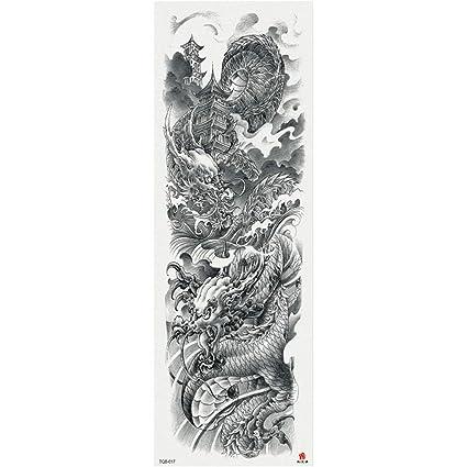 Scratch Art Brazo completo Etiqueta engomada del tatuaje ...