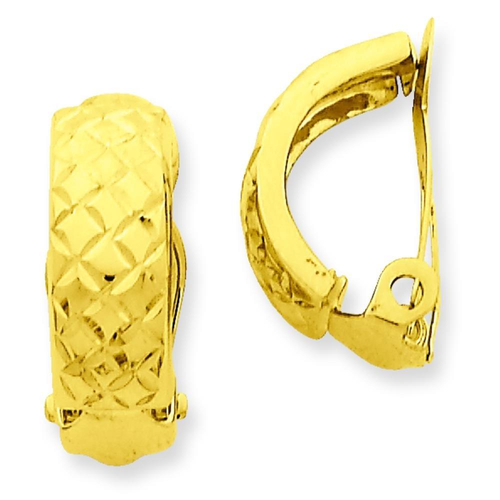 14K Gold Clip On Hoop Earrings Jewelry