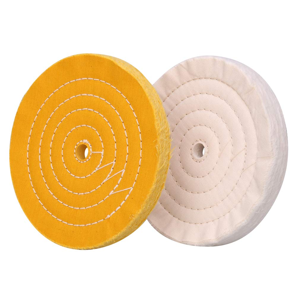 SCOTCHEN 8 Inch White Buffing Polishing Wheels for Bench Grinder with 5//8 Arbor Hole Grit Fine 4pcs 70 Ply