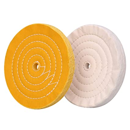 Magnificent Polishing Wheel For Bench Grinder Buffing Wheel 8 Inch White 70 Ply Yellow 42 Ply For Buffer Polisher With 5 8 Inch Arbor Hole 2 Pcs Spiritservingveterans Wood Chair Design Ideas Spiritservingveteransorg