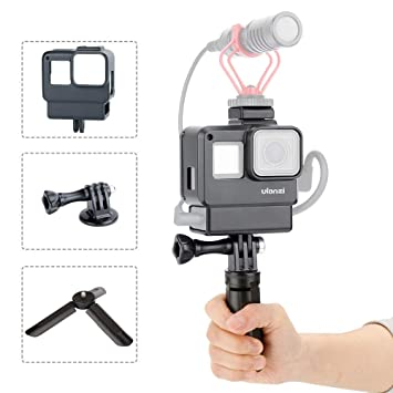 ULANZI V2 Vlogging Funda con trípode para GoPro, carcasa ...