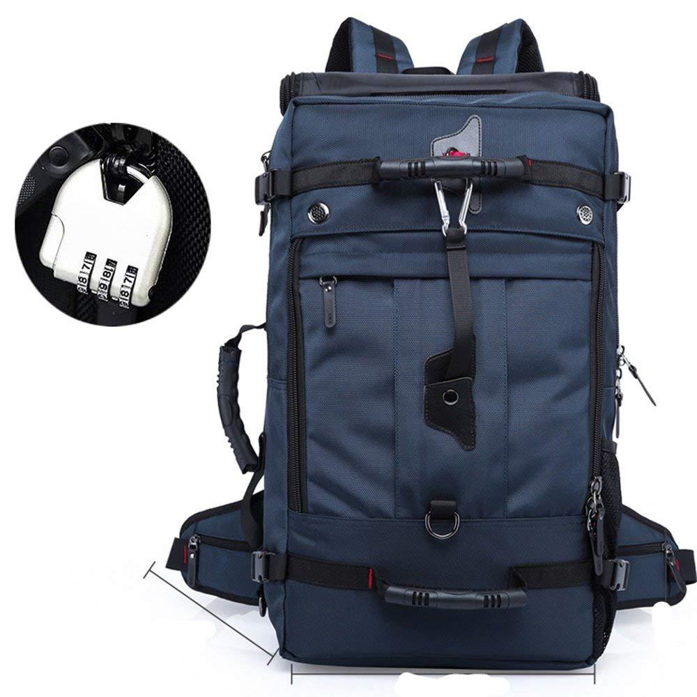防水ハイキングバックパック、オックスフォードリュックサックアウトドアスポーツ旅行トレッキングランニングメンズ(カラー:ロイヤルブルー60L) B07T2ML2MW Royal Blue 60L