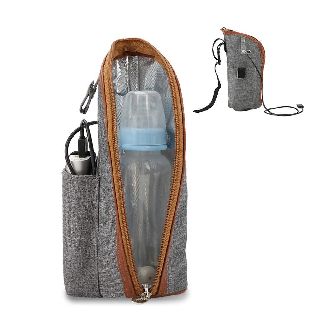Semme Bottle Warmer Bag, Portable Beverage and Baby Bottle Warmer Ideal for Car Travel, Shopping