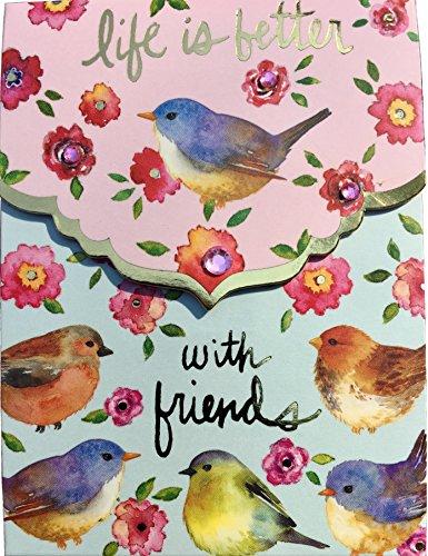 Punch Studio Mini Pocket Notepad - Birds