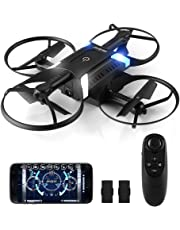 HELIFAR Drone con cámara HD App , H816 Mini Drone con cámara de 2MP 720P Live Video 120º WiFi FPV, Gran Angular Plegable, Modo Sin Cabeza,Retorno a Casa, 2 Baterías(Control Remoto por Gravedad)