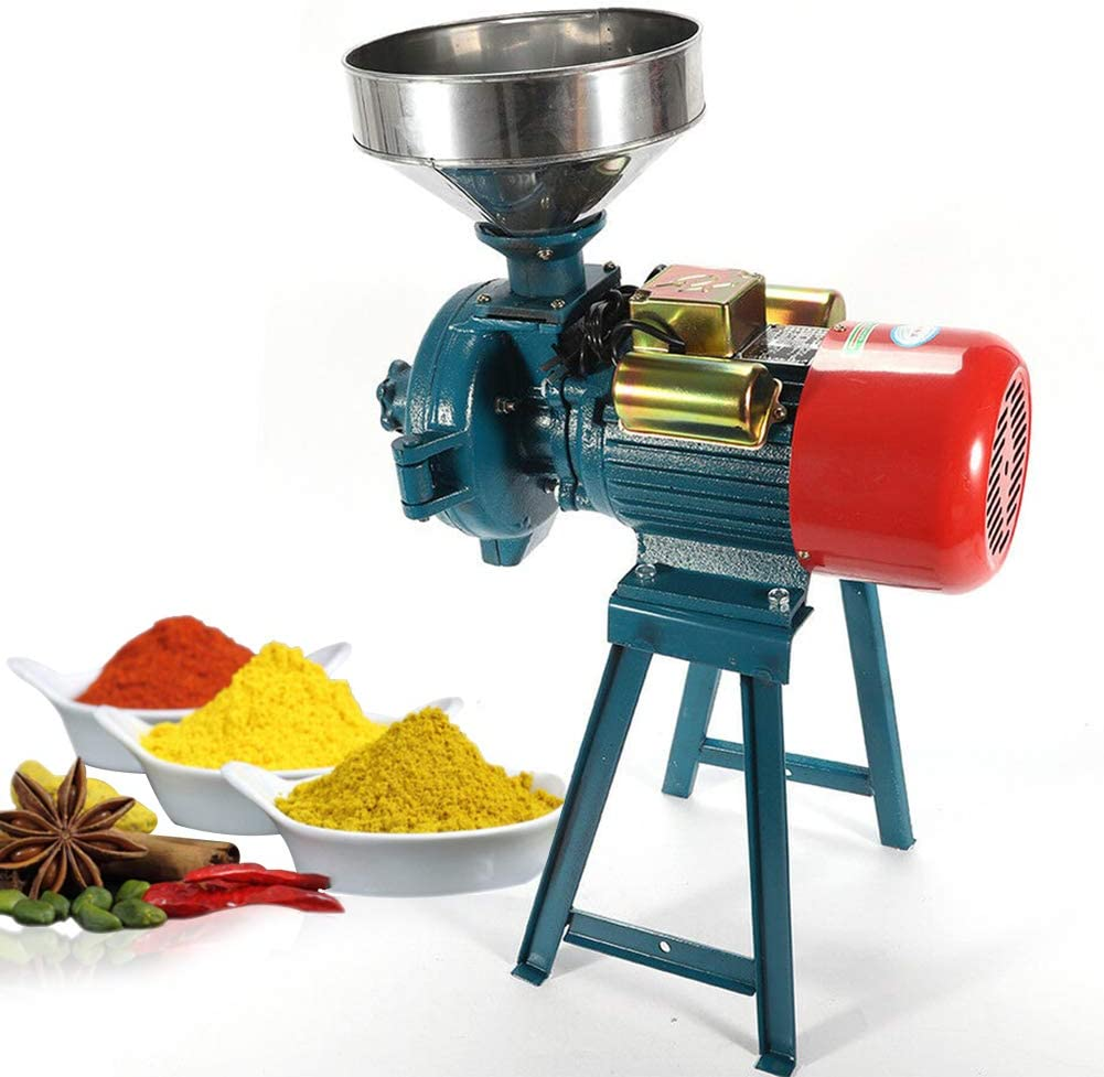 Amazon.com: Electric Grain Mill, Mill Grinder Heavy Duty 110V Commercial  Grain Grinder Machine Feed Grain Mills Grain Dry Feed Flour Mills Cereals  Grinder Rice Corn Grain Coffee Wheat with Funnel (3000W): Kitchen