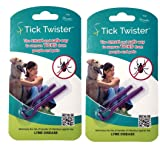 Tick Twister 00100-PR Tick Remover Small and Large, Purple, Double Set, Two, 2 Pack
