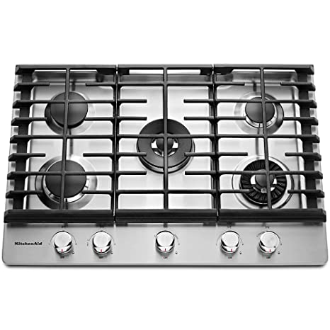 Amazon Com Kitchenaid Kcgs950ess 30 Wide Gas Cooktop With Griddle