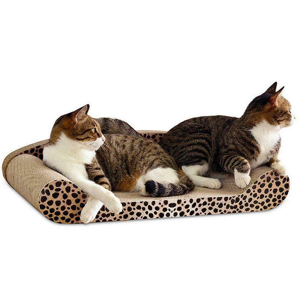 Lovely999 Cat Kitten Cardboard Corrugated Scratcher Scratching Pad Sofa Bed Board Mats A+ by Lovely999