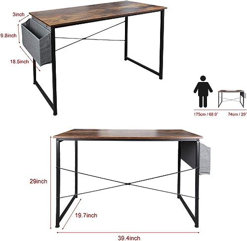 Jovilife 39″ Study Computer Desk Writing Small Desk