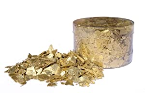 Crystal Candy Edible Flakes 7 Grams, Inca Gold