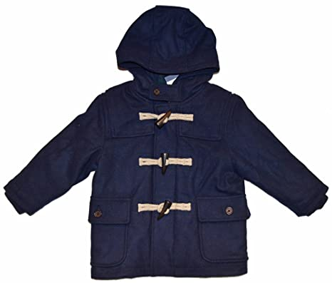080f667d5321d babygap Baby Gap Boys Navy Toggle Duffle Hooded Coat 12-18 Months   Amazon.in  Baby