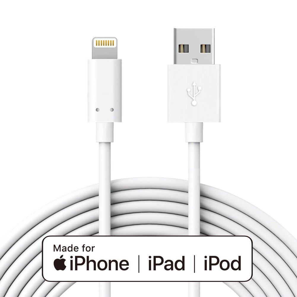 IQIYI [Apple Certified Sync Charger Cable, Fast Charging for iPhone iPad iPod 10 Feet/3 Meters (White) Also Can be The QY-C001