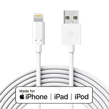 IQIYI Cable iPhone [Apple Certificado] 3M Cable de Carga y Sincronización para iPhone 7/7 PlusSE / 6s / 6/6 Plus / 6s Plus iPhone 5 / iPad Air 2 / ...