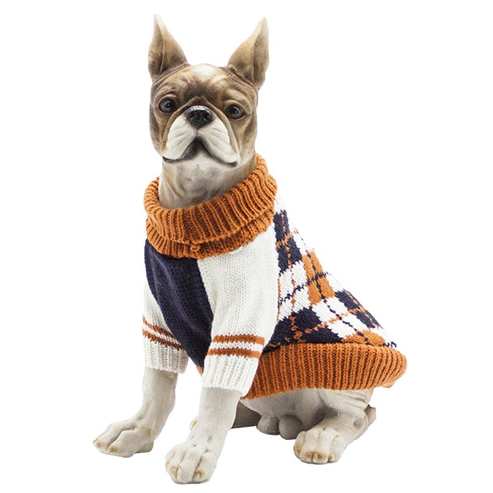 YiJee Mascota Halloween Suéteres De Punto Cachorro Perro Cálido Ropa Suéter Navy XS