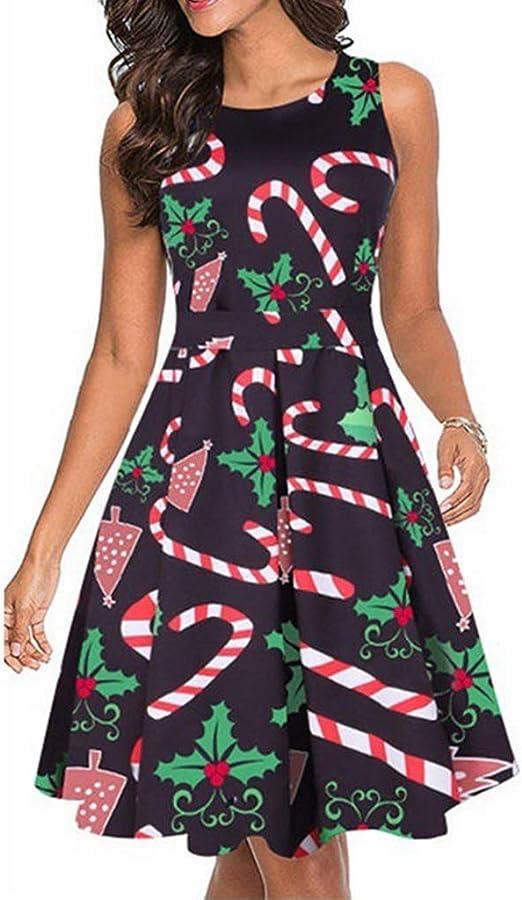 BesserBay Damen Weihnachtskleid Langarm Tunika Festliches Longshirt