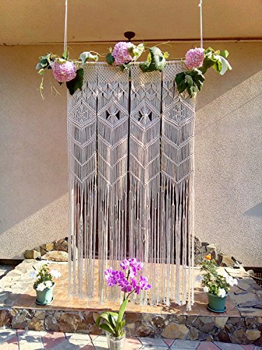 Bohemian Macrame Wall Decoration Boho   Macrame Backdrop