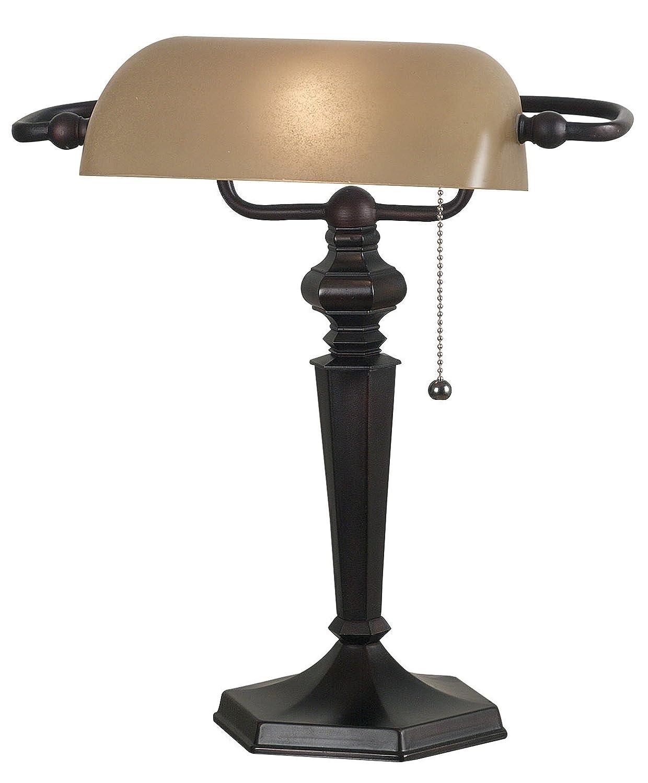 Kenroy Home 20610ORB Chesapeake Banker Lamp, Oil Rubbed Bronze ...
