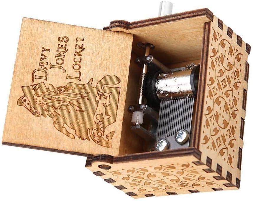 Nikou Music Box Weihnachten Holzschnitzerei Hand Music Box Mechanische Klassik Craft Geburtstags-Geschenk 1Pc Gr/ö/ße : Sky