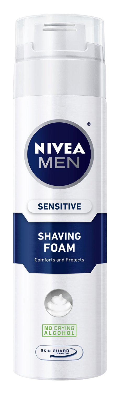 NIVEA MEN Sensitive Shaving Foam with Skin Guard, 8.7 oz Bottle (Pack of 3)