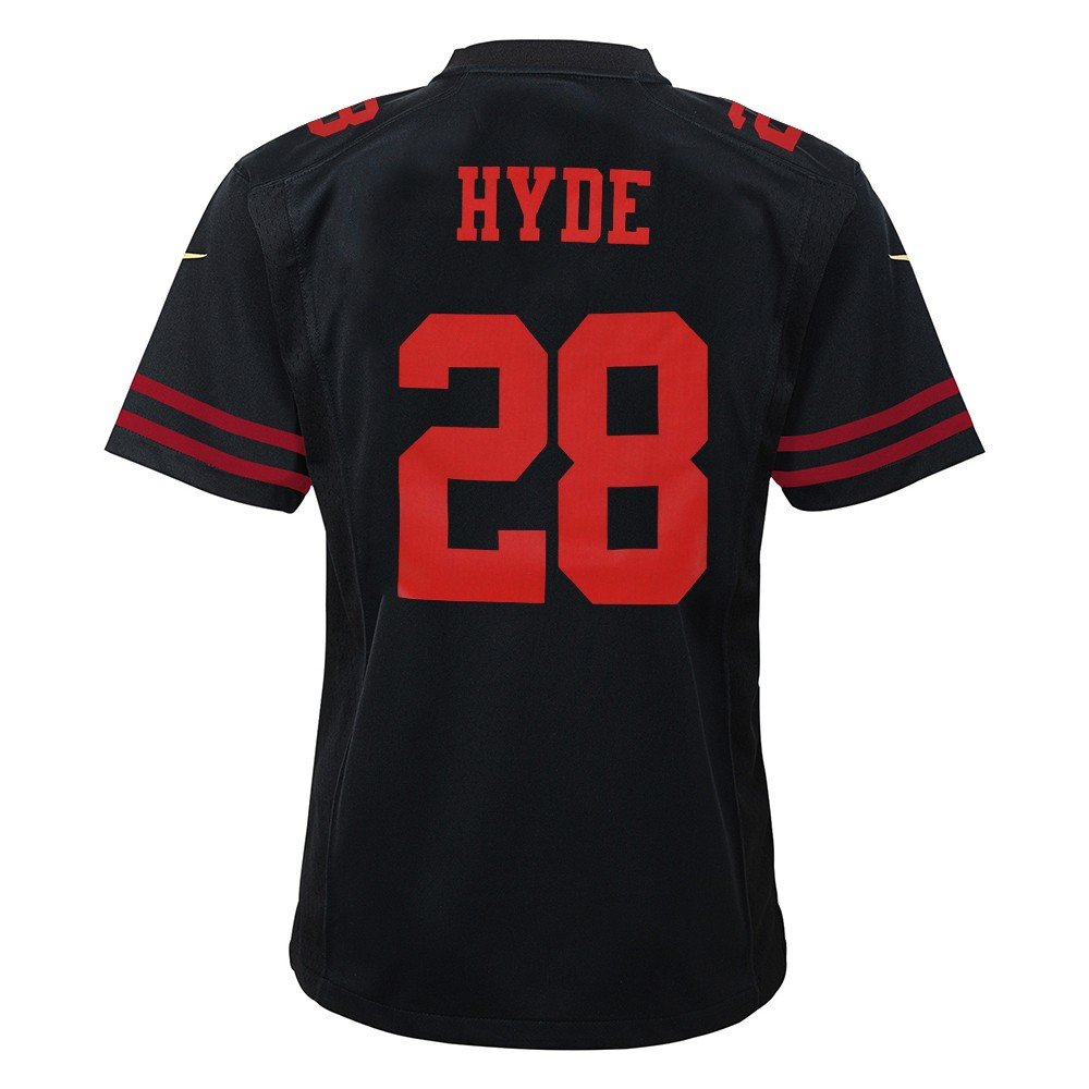 quality design 3c80e e27d8 Nike Carlos Hyde San Francisco 49ers Alternate Black Game Jersey Youth  (S-XL)