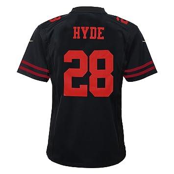 quality design 3c80e e27d8 Nike Carlos Hyde San Francisco 49ers Alternate Black Game Jersey Youth  (S-XL)
