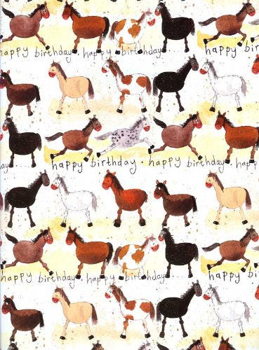- Alex Clark Horse Collection Happy Birthday Gift Wrap Paper 2 Sheets 19.5 in x 27.5 in