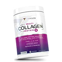 Multi Collagen Peptides Plus Hyaluronic Acid & Vitamin C, Hydrolyzed Collagen Protein...